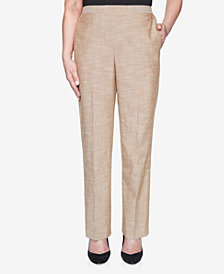 Alfred Dunner Pull On Back Elastic Textured Proportioned Pant