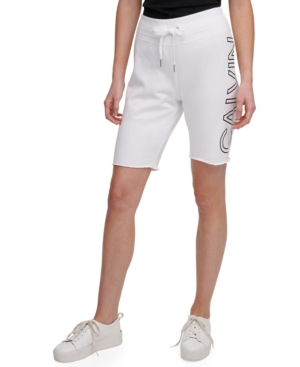 Calvin Klein Performance Logo Bermuda Shorts In White
