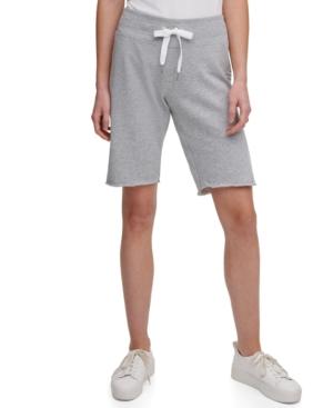 Calvin Klein Performance Logo Bermuda Shorts In Pearl Grey Heather