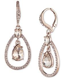 Crystal Pear-Shape Orbital Drop Earrings