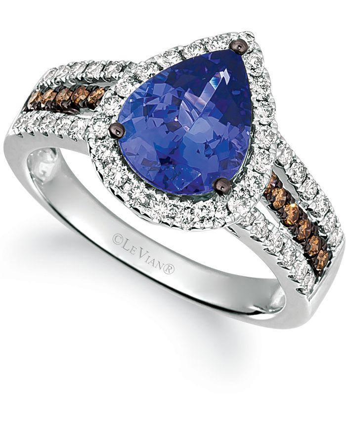 Le Vian - Blueberry Tanzanite (2 ct. t.w.) & Diamond (5/8 ct. t.w.) Ring in 14k White Gold