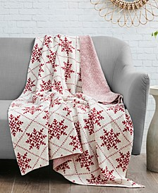 Snowflake Jacquard Cotton Throw