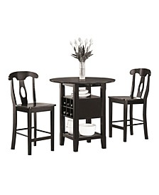 Homelegance Alita Counter Height Dining Room Table and Chairs, Set of 3