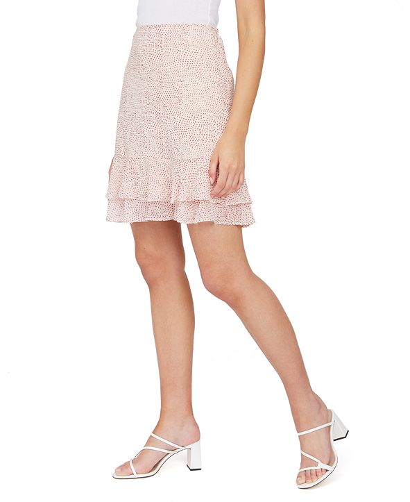 Lucy Paris Amy Printed Ruffled Skirt