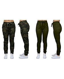 Women's Basic Stretch Twill Joggers, Pack of 2