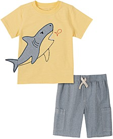 Baby Boys 2-Pc. Shark T-Shirt & Cargo Shorts Set