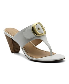 Women's Polka Mid-Heel Thong Sandals