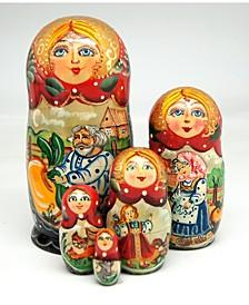 Turnip Family 5 Piece Russian Matryoshka Nested Dolls Set
