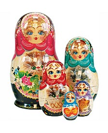 Kitty Cat 5 Piece Russian Matryoshka Stacking Dolls Set