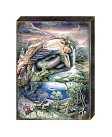 Mer Angel Wall and Table Top Wooden Decor by Josephine Wall