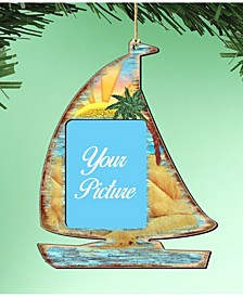 Sailboat Picture Frame Ornament Set of 2