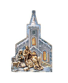 by Dona Gelsinger Nativity at The Chapel Ornament, Set of 2