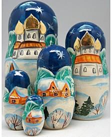 Vitter Village 5 Piece Russian Matryoshka Nested Dolls Set