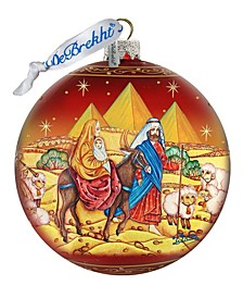 Journey to Bethlehem Nativity Limited Edition Hand Painted Glass Ornament