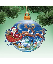 Up and Away Wooden Christmas Ornament, Set of 2