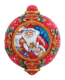 Hand Painted Scenic Ornament Nativity Workshop