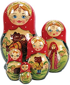 Bear Tale 5 Piece Russian Matryoshka Nested Dolls Set