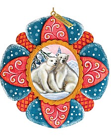 Hand Painted Scenic Ornament Polar Bear