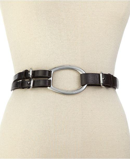 Lauren Ralph Lauren Vachetta Tri-Strap Leather Belt   Reviews ... 55e09ad2e9b91