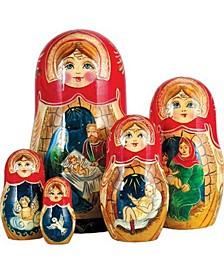 Nativity Story 5 Piece Russian Matryoshka Wooden Nested Dolls Set