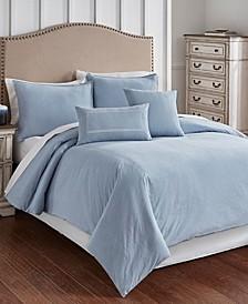 Cross Woven 6 Piece Queen Comforter Set