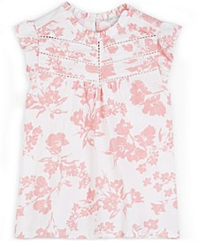 High-Neck Embroidered Top