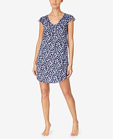 Printed Flutter Sleeve Nightgown