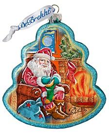 Night Before Christmas Tree Glass Ornament