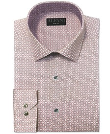 Men's Slim-Fit Octagon-Tile-Print Dress Shirt, Created for Macy's