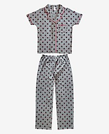 Minnie Mouse Notched Collar Women's Pajama 2 Piece Set