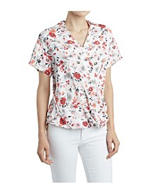 Women's Printed Crossover Top