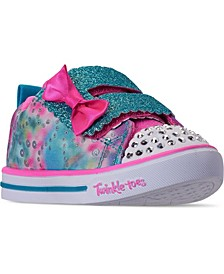 Toddler Girl's Twinkle Toes Sparkle Lite - Rainbow Cuties Stay-Put Casual Sneakers from Finish Line