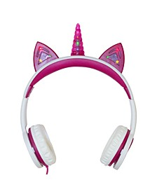 Kids SafeSounds Unicorn Led Light-Up Wired Headphones