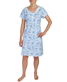 Paisley Print Nightgown