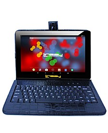 "10.1"" 1280x800 IPS Screen Quad Core 2GB RAM Tablet 32GB Android 10 with Black Crocodile Style Keyboard"