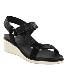Amore Cartia Rhinestone Women's Wedge Sandal