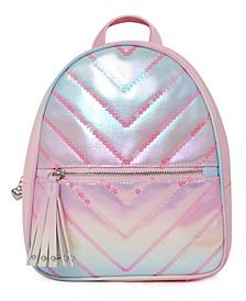 Girls Chevron Quilt Sequins Mini Backpack