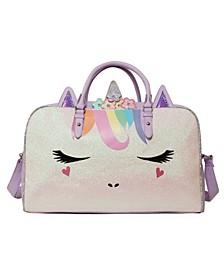 Girls Flower Crown Miss Gwen Unicorn Duffle Bag