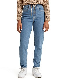 High-Rise Tapered Ankle Jeans
