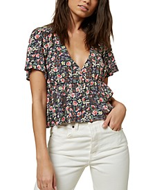 Juniors' Wes Floral-Print Top