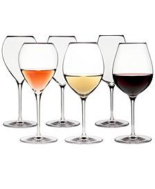 Karen MacNeil Flavor First, Set of 6 Wine Glasses (2 Crisp & Fresh, 2 Creamy & Silky and 2 Bold & Powerful)