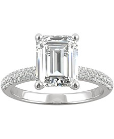 Moissanite Emerald-Cut Engagement Ring (2-7/8 ct. t.w. DEW) in 14k White Gold