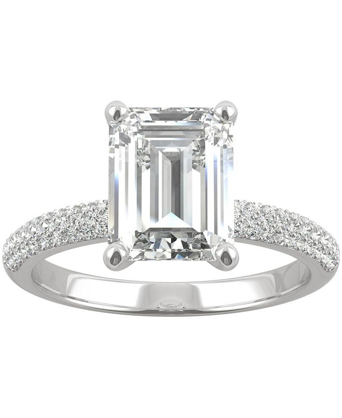 Charles & Colvard - Moissanite Emerald-Cut Engagement Ring (2-7/8 ct. t.w. DEW) in 14k White Gold