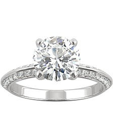 Moissanite Knife-Edge Engagement Ring (2-1/4 ct. t.w. DEW) in 14k White Gold