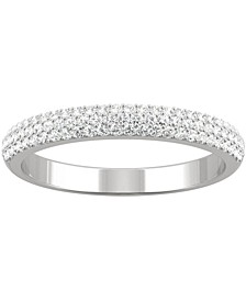 Moissanite Pavé Wedding Band (3/8 ct. t.w. DEW) in 14k White Gold