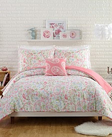 Avery 4 Piece Full/Queen Comforter Set