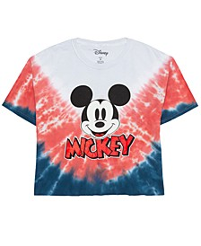 Juniors' Cotton Mickey Mouse Graphic T-Shirt