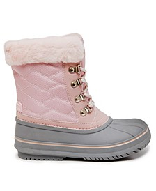Little Girls Quilted Snow Boot