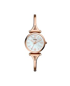 Carlie Mini Three-Hand Rose Gold-Tone Stainless Steel Watch 28mm