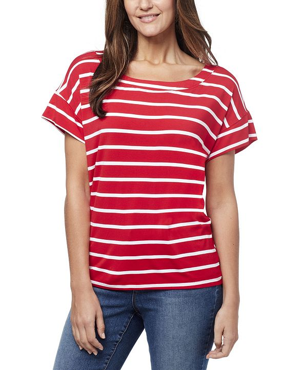 Nine West Women's Myra Dolman Muscule T-shirt